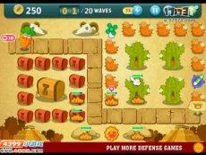 保卫萝卜沙漠模式第3关 小游戏视频攻略