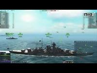 最新 海战世界-俾斯麦-四杀惜败+前卫-合集-Lion老虎解说-海战世界