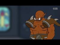 精彩内容 《炉石传说-爆笑卡通》 安杜因 VS 加尔鲁什!【疾风小怪兽】-疾风小怪兽