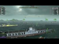 海战世界-美系-十级战航母-中途岛-炮舰局-MVP-十二万七千点亮伤害-Lion老虎解说-海战世界