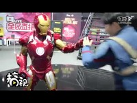 #2017ChinaJoy#玩家COS:美队VS钢铁侠帅帅哒!