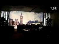 带有夜光效果的哥凡尼冰晶画背景墙